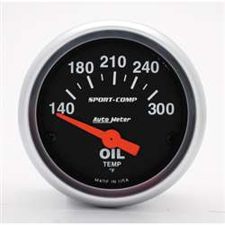 Auto Meter 3348 Sport-Comp 140-300 °F Oil Temperature Gauge