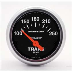 Auto Meter 3357 Sport-Comp 100-250 °F Transmission Temperature Gauge