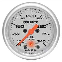Auto Meter 4340 Ultra-Lite 100-340 °F Oil Temperature Gauge