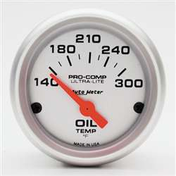 Auto Meter 4348 Ultra-Lite 140-300 °F Oil Temperature Gauge