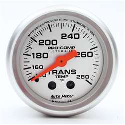 Auto Meter 4351 Ultra-Lite 140-280 °F Transmission Temperature Gauge