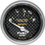 Auto Meter 4715 Carbon Fiber 73-10 Ohms Fuel Level Gauge