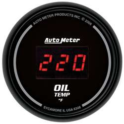 Auto Meter 6348 Z Series 0-340 °F Oil Temperature Gauge