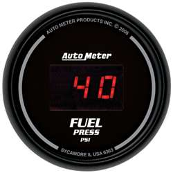Auto Meter 6363 Z Series 5-100 PSI Digital Fuel Pressure Gauge