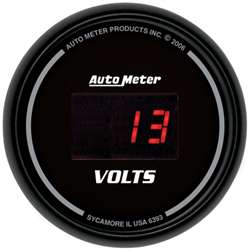 Auto Meter 6393 Z Series 8-18 Volts Digital Voltmeter Gauge