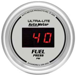 Auto Meter 6563 Ultra-Lite 5-100 PSI Digital Fuel Pressure Gauge