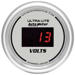 Auto Meter 6593 Ultra-Lite 8-18 Volts Digital Voltmeter Gauge