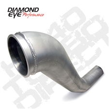"Diamond Eye 221040 4"" Hx40 Aluminized Turbo Downpipe for 1994-2002 Dodge 5.9L Cummins"