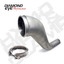 "Diamond Eye 221043 4"" Hx40 Aluminized Turbo Downpipe for 1994-2002 Dodge 5.9L Cummins"