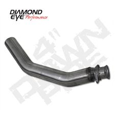 "Diamond Eye 261001 4"" 409 Stainless Steel Downpipe for 1994-2002 Dodge 5.9L Cummins"