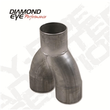 "Diamond Eye 261075 5"" 409 Stainless Steel Y-Pipe for 2004.5-2007 Dodge 5.9L Cummins"