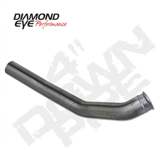 "Diamond Eye 262001 4"" 409 Stainless Steel Downpipe for 2003-2004 Dodge 5.9L Cummins"