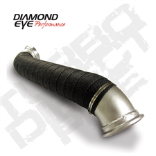 "Diamond Eye 321056 3"" Aluminized Turbo Direct Pipe for 2004-2010 GM 6.6L Duramax LLY, LBZ, LMM"