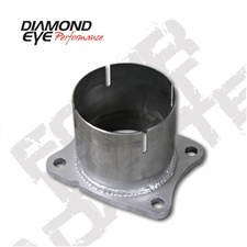 "Diamond Eye 361045 4"" 409 Stainless Steel 4 Bolt Adapter Plate for 2001-2007 GM 6.6L Duramax LB7, LLY, LBZ"