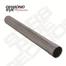 "Diamond Eye 420036 4"" 409 Stainless Steel Straight Pipe"
