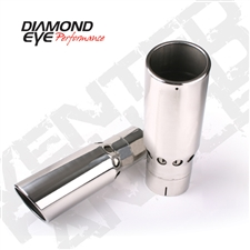 "Diamond Eye 4516VRA 5"" Vented Rolled End Angle Cut Exhaust Tip"