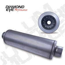 "Diamond Eye 460017 4"" Aluminized Muffler"