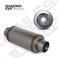 "Diamond Eye 460020 4"" 409 Stainless Steel Muffler"