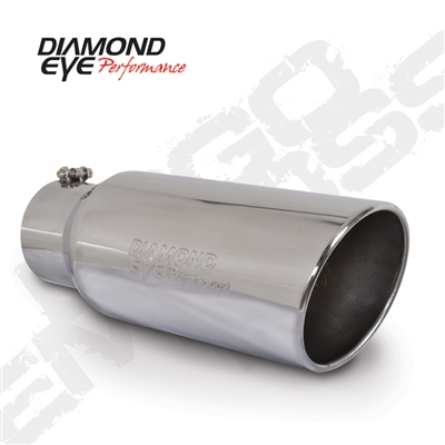 "Diamond Eye 4718BRA-DE 7"" Bolt-On Rolled End Angle Cut Exhaust Tip"