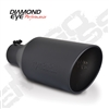 "Diamond Eye 5818BRA-DEBK 8"" Bolt-On Rolled End Angle Cut Black Exhaust Tip"