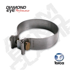 "Diamond Eye BC400S430 4"" 430 Bright Stainless Steel Torca Band Clamp"