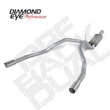 "Diamond Eye K3264A 3"" Cat Back Dual Rear Aluminized Exhaust System for 2014-2015 Dodge 3.0L EcoDiesel"