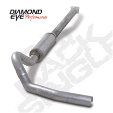 "Diamond Eye K4110A-RP 4"" Cat Back Single Side Aluminized Exhaust System for 2001-2005 GM 6.6L Duramax LB7, LLY"