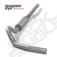 "Diamond Eye K4122S-RP 4"" Cat Back Single Side 409 Stainless Steel Exhaust System for 2001-2007 GM 6.6L Duramax LB7, LLY, LBZ"