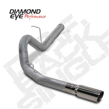"Diamond Eye K4156A 4"" Filter Back Single Side Aluminized Exhaust System for 2011-2015 GM 6.6L Duramax LML"
