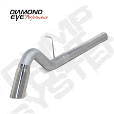 "Diamond Eye K4156A-TD 4"" Filter Back Single Side Turn Down Aluminized Exhaust System for 2011-2015 GM 6.6L Duramax LML"