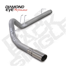 "Diamond Eye K4360S 4"" Filter Back Single Side 409 Stainless Steel Exhaust System for 2008-2010 Ford 6.4L Powerstroke"