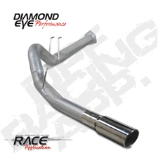 "Diamond Eye K4376A 4"" Filter Back Single Side Aluminized Exhaust System for 2011-2015 Ford 6.7L Powerstroke"
