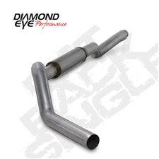 "Diamond Eye K5126A-RP 5"" Cat Back Single Side Aluminized Exhaust System for 2001-2007 GM 6.6L Duramax LB7, LLY, LBZ"