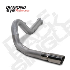 "Diamond Eye K5134S 5"" Filter Back Single Side 409 Stainless Steel Exhaust System for 2007.5-2010 GM 6.6L Duramax LMM"
