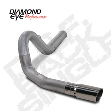 "Diamond Eye K5162A 5"" Filter Back Single Side Aluminized Exhaust System for 2011-2015 GM 6.6L Duramax LML"