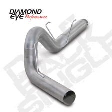 "Diamond Eye K5252S 5"" Filter Back Single Side 409 Stainless Steel Exhaust System for 2007.5-2012 Dodge 6.7L Cummins"