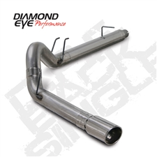 "Diamond Eye K5364A 5"" Filter Back Single Side Aluminized Exhaust System for 2008-2010 Ford 6.4L Powerstroke"