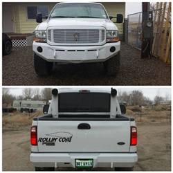 Fusion Bumpers FB-9904FORDRB Ford Powerstroke Rear Bumper for 1994-2002 Ford Powerstroke 7.3L Diesel Trucks