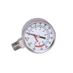 Kleinn Automotive Air Horns 1025 Air Pressure Gauge Stainless Steel Stem Mount