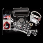 Kleinn Automotive Air Horns HK4  Quad Air Horn Package Complete