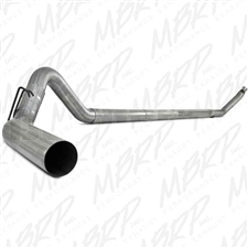 "MBRP S6100PLM 4"" Turbo Back Single Side Aluminized Exhaust for 1994-2002 Dodge 5.9L Cummins"