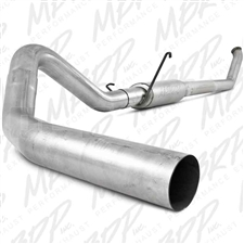 "MBRP S6104P 4"" Turbo Back Single Side Aluminized Exhaust for 2003-2004 Dodge 5.9L Cummins"