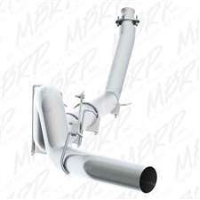 "MBRP S61120P 5"" Turbo Back Single Side Aluminized Exhaust for 1994-2002 Dodge 5.9L Cummins"