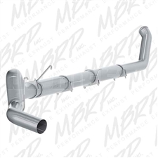 "MBRP S61140P 5"" Turbo Back Single Side Aluminized Exhaust for 2003-2004 Dodge 5.9L Cummins"
