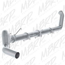 "MBRP S61140PLM 5"" Turbo Back Single Side Aluminized Exhaust for 2003-2004 Dodge 5.9L Cummins"