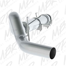 "MBRP S61180P 5"" Cat Back Single Side Aluminized Exhaust for 2004-2007 Dodge 5.9L Cummins"