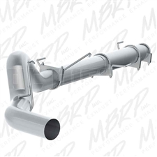 "MBRP S61180PLM 5"" Cat Back Single Side Aluminized Exhaust for 2004-2007 Dodge 5.9L Cummins"