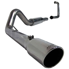 "MBRP S6216409 4"" Turbo Back Single Side Stainless T409 Exhaust for 2003-2005 Ford 6.0L Powerstroke"