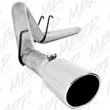 "MBRP S6242AL 4"" DPF Filter Back Single Side Aluminized Exhaust for 2008-2010 Ford 6.4L Powerstroke"