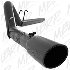 "MBRP S6242BLK 4"" DPF Filter Back Single Side Black Coated Aluminized Exhaust for 2008-2010 Ford 6.4L Powerstroke"